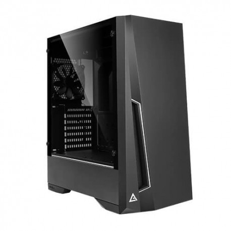 NEW ANTEC DP501 BLACK MID-TOWER CASE: DP501 - BLACK 1X 120MM FAN 2X USB 3.0 TEMPERED GLASS SIDE PANEL RGB-LED LIGHTING SUPPORT